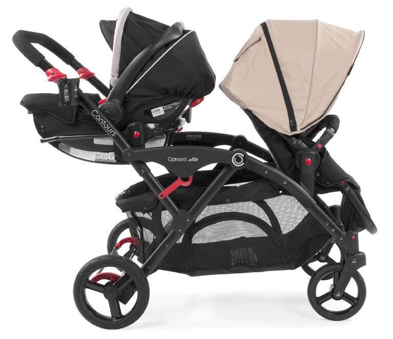 Contours Adaptateur de siège de voiture pour bébé Graco Click Connect.