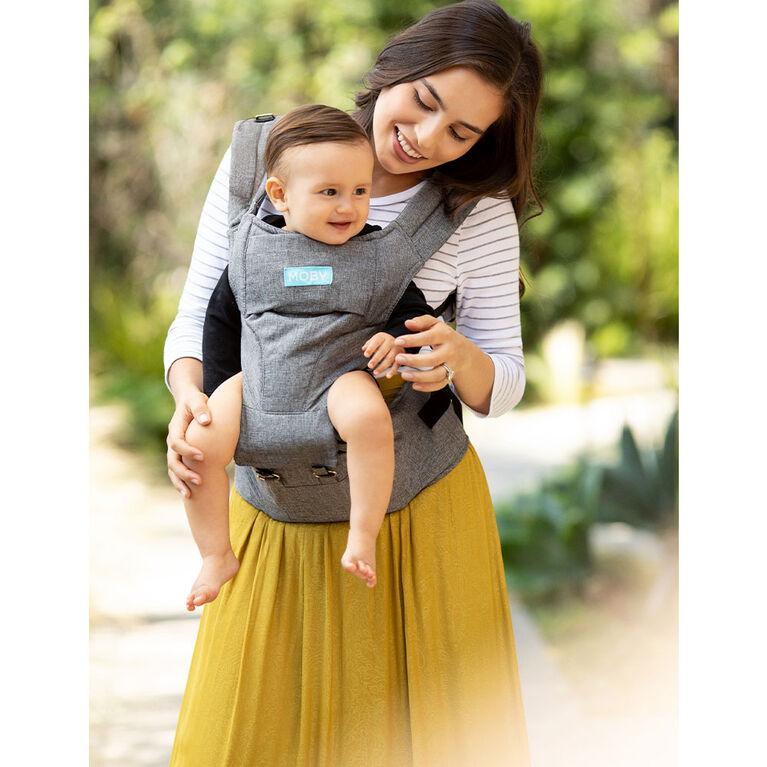 MOBY - Porte-bébé / Hipseat 2-en-1 - Gris