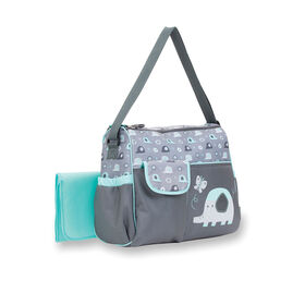 Baby Boom Elephant Duffle Diaper Bag - Grey/Green