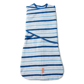 SwaddleMe 1 pack Arms Free Convertible Swaddle Wrap CHAMBRAY STRIPES STAGE 2, 6-12 months