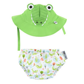 Zoocchini - Swim Diaper & Hat Set - Alligator - Small