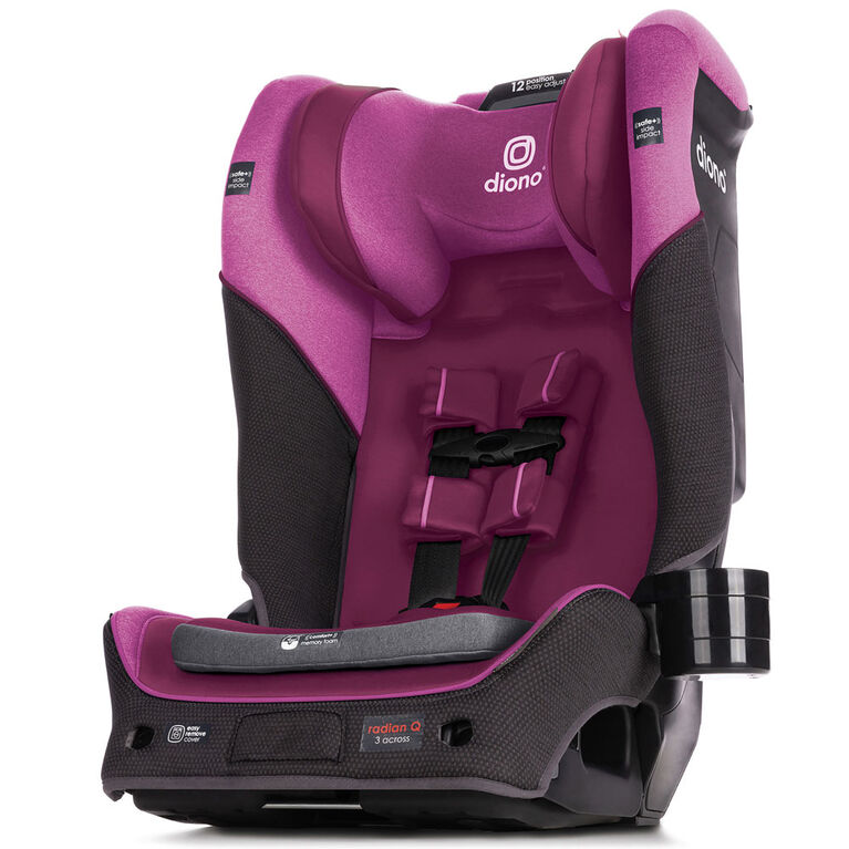 Radian 3Qx Latch All-In-One Convertible Car Seat - Purple Plum