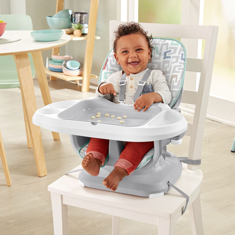 Fisher-Price SpaceSaver Infant-to-Toddler High Chair - Color Scoops