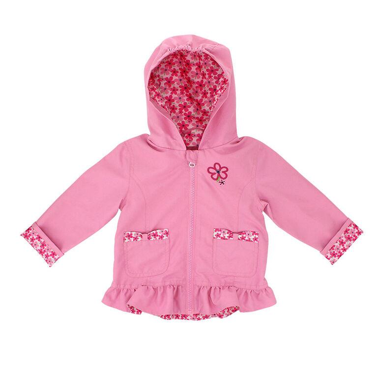 Northpeak Baby Girls Fashion Jacket- Candy Pink - 12 Months