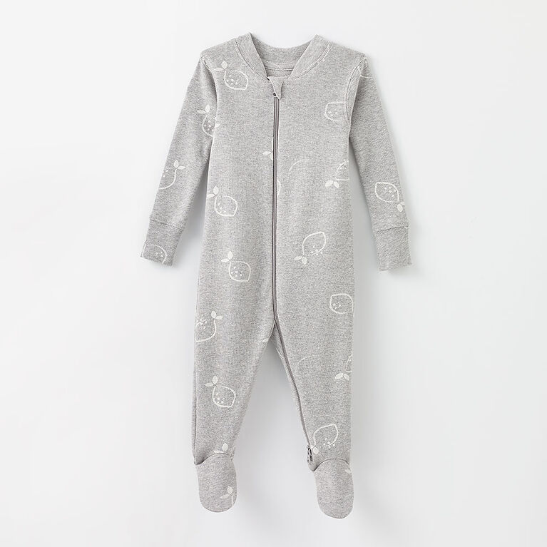 happy dream organic sleeper, 9-12m - grey mix