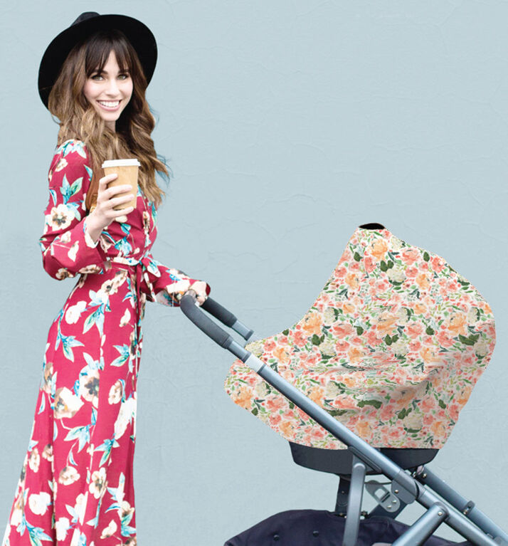 Itzy Ritzy Mom Boss 4-in-1 Multi-Use Nursing Cover, Car Seat Cover, Shopping Cart Cover and Infinity Scarf, Floral