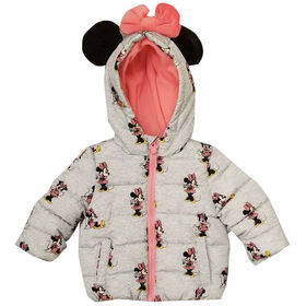 Baby Girl Minnie Mouse Puffer Jacket 3 Months