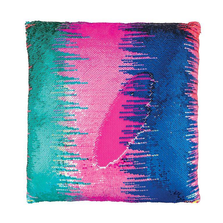 Style Lab Magic Sequin Pillow - Multi-Color Gradient