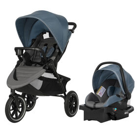 Evenflo Folio3 Stroll and Jog Travel System with LiteMax 35 Infant Car Seat Skyline