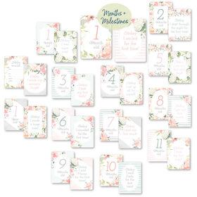 Itzy Ritzy Milestone Cards - Floral - English Edition
