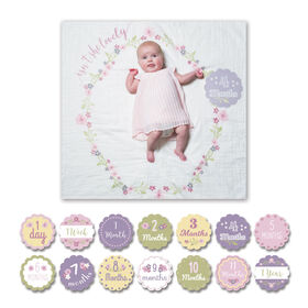 Lulujo - Baby's 1st Year Isn't She Lovely Milestone Blanket & Cards Set