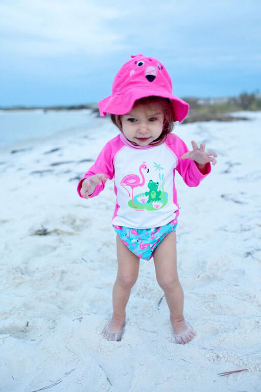 Zoocchini - Swim Diaper & Hat Set - Flamingo - Small