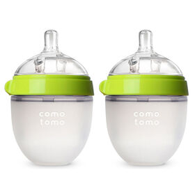 Comotomo - Natural Flow Bottle (Double Pack) - 150ML - Green.