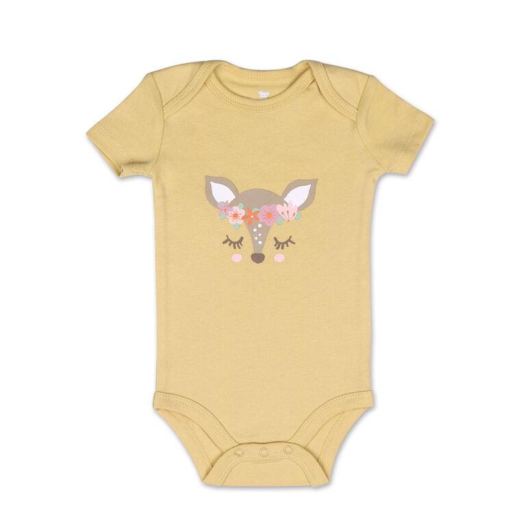 Combinaison à manches courtes Little Fawn en paquet de 4 de Koala Baby, 0-3 Mois