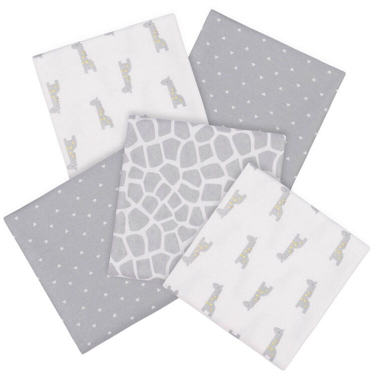 Paquet de 5 couvertures pour bébé de Gerber Girafe
