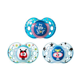 Tommee Tippee Day & Night Pacifier 3-Pack, 18-36 Months - My Little Star