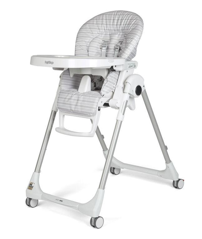 Peg Perego - Prima Pappa Zero3  Highchair- Linear Grey