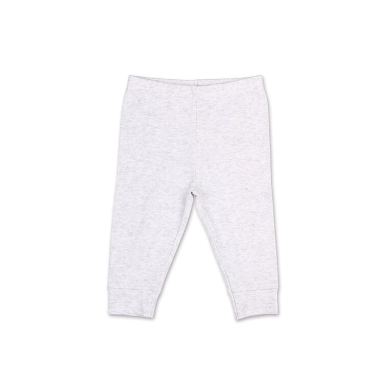 Ensemble 2pièces Koala Baby rayures d'été ludiques - tee-shirt Henley et pantalon de sport, 3-6 Mois