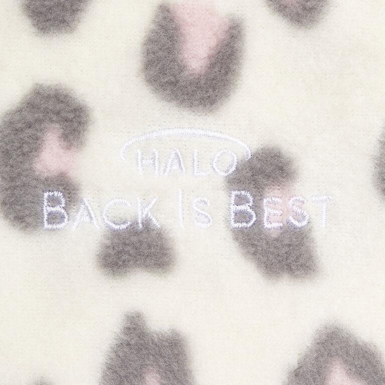 Halo Sleepsack Wearable Blanket - Micro-Fleece - Leopard Pink - Medium