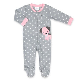 """Dormeuse en polaire """" Grey Polka Dot Dog """" de Koala Baby - taille 6 - 9 mois"""