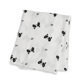 Lulujo Bamboo Muslin Swaddle Blanket - Panda