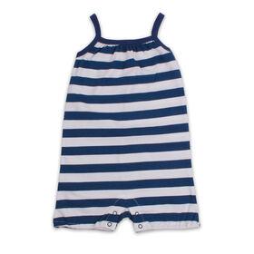 Snugabye Sleeveless Romper - Stripe - Navy/White, 12-18 Months