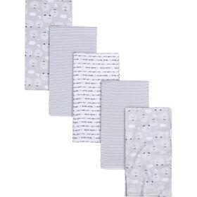 Gerber 5 Pack Flannel Receiving Blanket - Sheep print