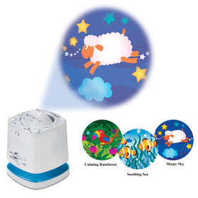 Système de projection audiophonique de Munchkin pour chambre de bébé.