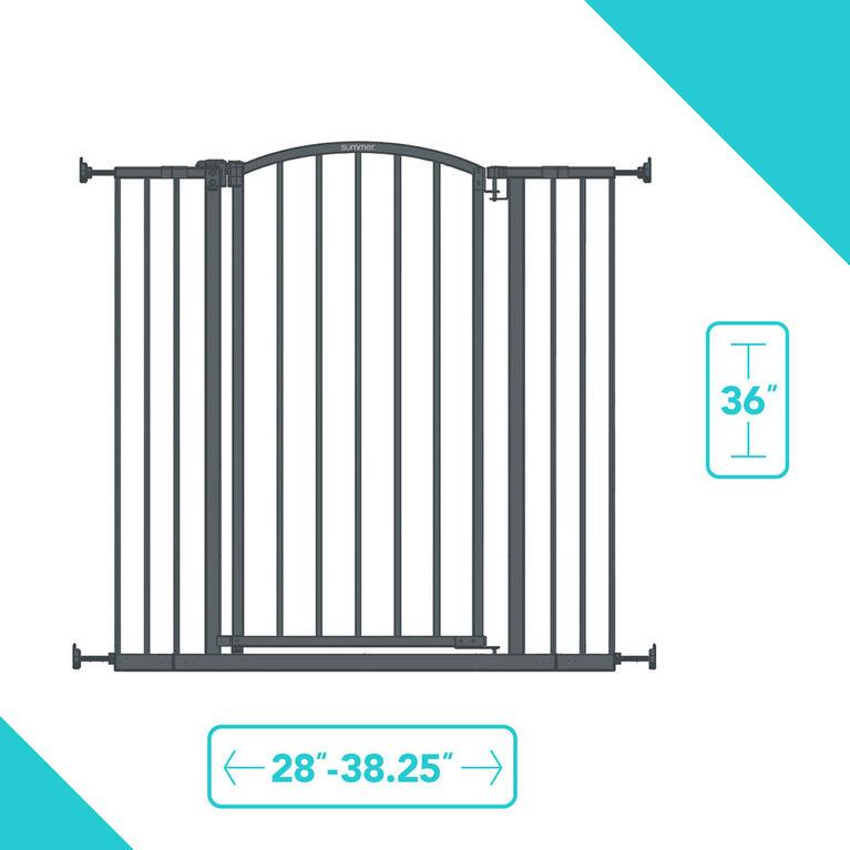 Barrière de sécurité très haute avec porte décorative