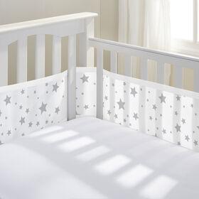 Breathable Baby Crib Liner - Grey