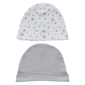 Koala Baby 2-Pack Hat Set - Grey Stars