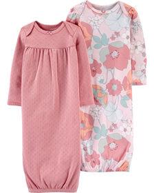 Carter's 2-Pack Sleeper Gowns Pink - 3 Months