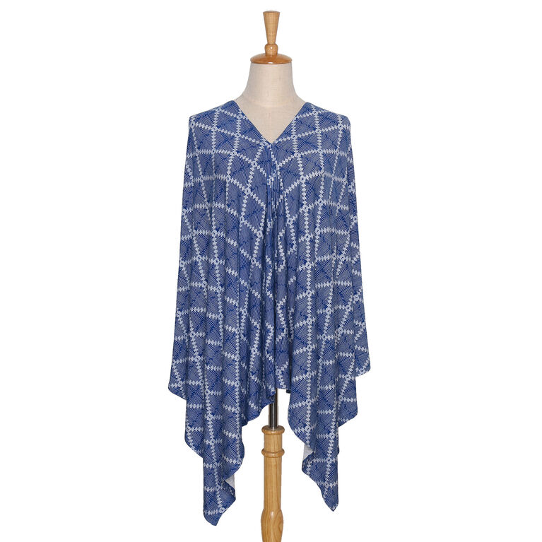 The Peanutshell 6-in-1 Nursing Poncho - Navy Aztec