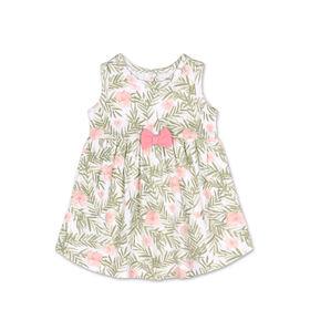 Koala Baby Short Sleeve Green Floral Print Dress - 6 to 12 months