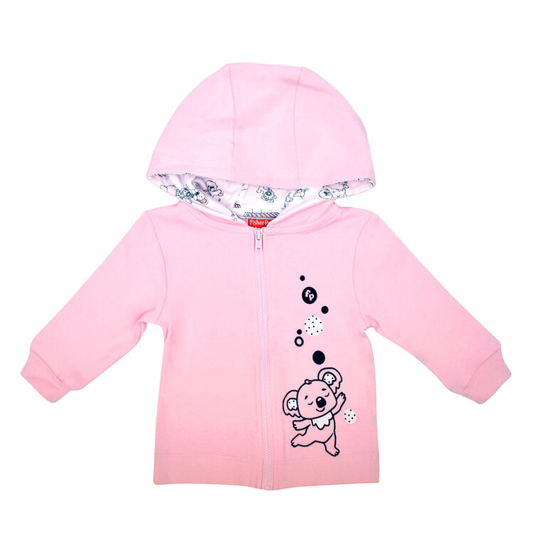 Fisher Price Cardigan à capuche - Rose, Nouveau Née