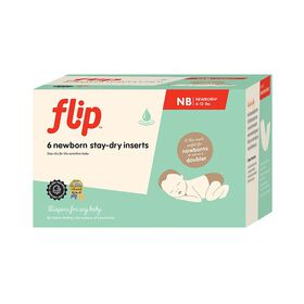 bumGenius Flip Stay-Dry Newborn Inserts 6 Pack