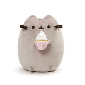 GUND, Peluche chat Pusheen gourmande avec cupcake décoré, 24,1cm