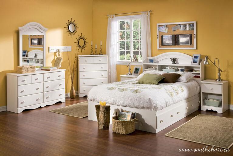 Summer Breeze 6-Drawer Double Dresser- White Wash