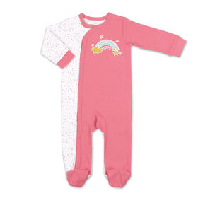 Koala Baby Rainbow Hope Print Snap-Front Sleeper, Newborn
