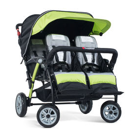 Foundations Splash of Colour Quad Sport 4 Passenger Stroller - Lime