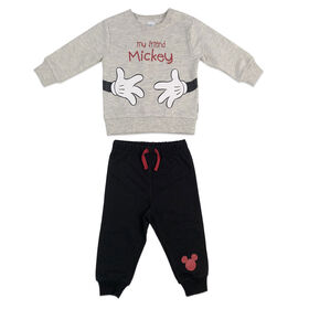 Disney Mickey Mouse Fleece pant set - Oatmeal, 3 Months