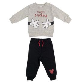 Disney Mickey Mouse ensemble pantalon et haut en polaire -Avoine, 12 mois