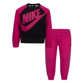 Nike top and Jog pant Set - Pink, 12 Months