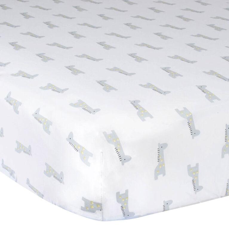 Gerber Fitted Crib Sheet Giraffe