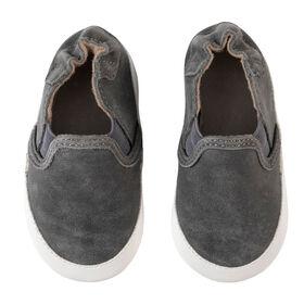 Robeez - Soft Soles Grey Leather 6-12m
