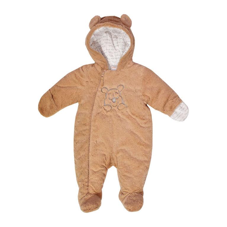 Disney Winnie l'Ourson Combinaison d'hiver  en fausse fourrure - brun, 6-12 Mois