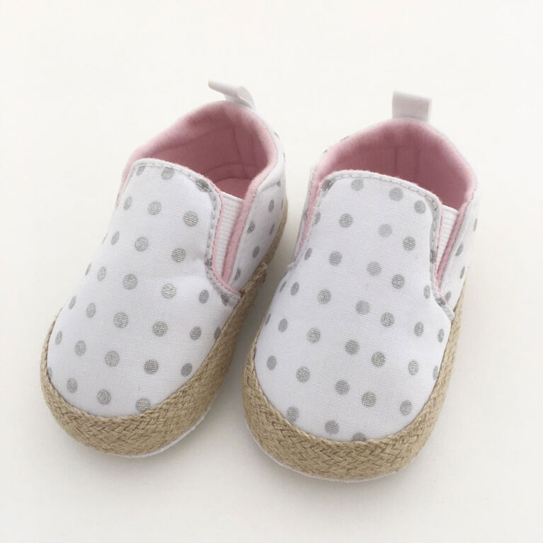 Tickle-toes White with Grey Dots Size 1-4