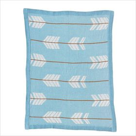 Woods - Knitted Cotton Blanket - Arrows