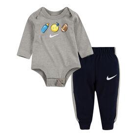 Ensemble Cache Couche et Pantalon - Gris, 3 Mois Nike