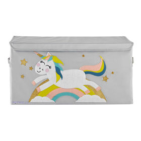 Potwells - Organisateur de coffre / coffre de rangement de jouets pour bébés et tout-petits - Licorne
